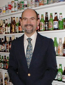 "Ray in his ""Beer Room""."