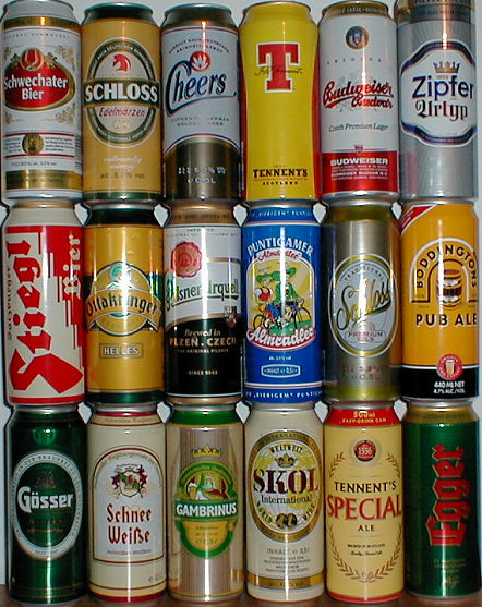 beer cans of Europe