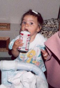 Nicole with beer can
